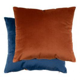 Sada modrého a oranžového polštáře se sametovým potahem House Nordic Braga, 45x45cm