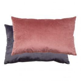 Šedo-růžový povlak na polštář sametovým povrchem House Nordic Braga, 40x60cm