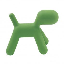 Zelená dětská stolička ve tvaru psa Magis Puppy, výška45cm