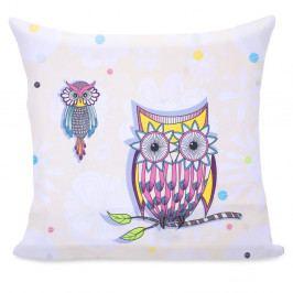 Povlak na polštář z mikrovlákna DecoKing Owls Summerstory, 80 x 80 cm