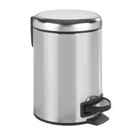 Pedálový odpadkový koš ve stříbrné barvě Wenko Leman Shiny, 3 l
