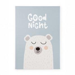 Obraz na plátně Tanuki Good Night Bear, 70x50cm
