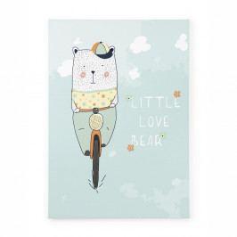 Obraz na plátně Tanuki Little Love Bear, 70x50cm