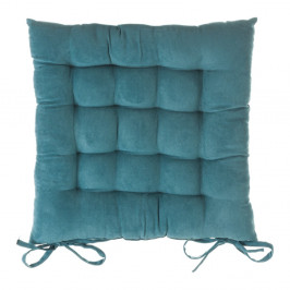 Modrý podsedák na židli Unimasa, 40 x 40 cm