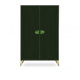 Zelená skříň z borovicového dřeva Velvet Atelier