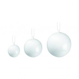 Sada 3 bílých vánočních ozdob na stromeček z kostního porcelánu Kähler Design Nobili