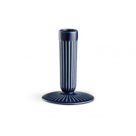Tmavě modrý kameninový svícen Kähler Design Hammershoi, výška 12 cm