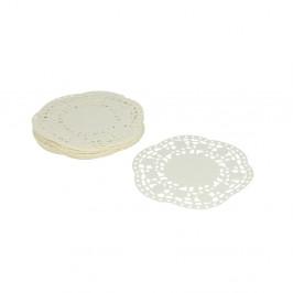Sada 40 bílých papírových krajek pod dort Metaltex, ø11cm