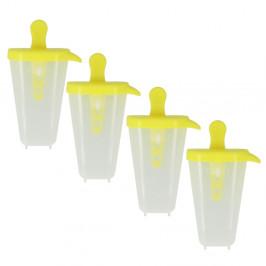 Sada 4 žlutých tvořítek na zmrzlinu Metaltex Lollies