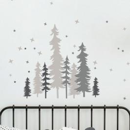 Nástěnné dětské samolepky Ambiance Forest Trees With Stars