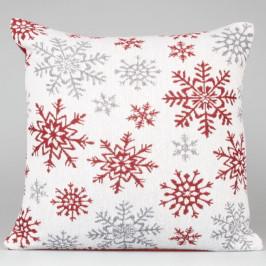 Bílo červený povlak na polštář Dakls Winter, 40 x 40 cm