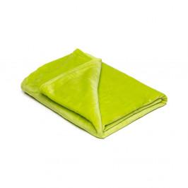 Světle zelená mikroplyšová deka My House, 150 x 200 cm