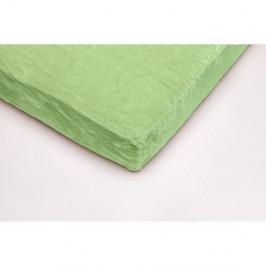 Zelené mikroplyšové prostěradlo My House, 90 x 200 cm