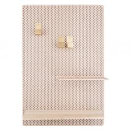 Pískově hnědá kovová nástěnka PT LIVING Perky, 34,5x52,5cm