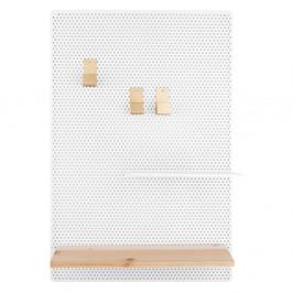 Bílá kovová nástěnka PT LIVING Perky, 34,5x52,5cm