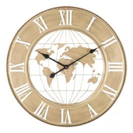Nástěnné hodiny ve zlaté barvě Mauro Ferretti World, ø63cm