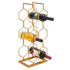 Stojan na 8 lahví ve zlaté barvě Mauro Ferretti