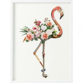 Obraz plameňáka Kare Design Art Flamingo, 100 x 75 cm