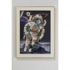 Obraz v rámu Kare Design Astronaut, 100 x 75 cm