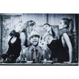 Zasklený černobílý obraz Kare Design Macho Man, 150 x 100 cm