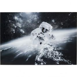 Zasklený černobílý obraz Kare Design Glass Man in the Sky, 150 x 100 cm