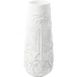 Bílá váza Kare Design Jungle White, výška 83 cm