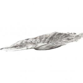 Dekorativní list ve stříbrné barvě Kare Design Bowl Leaf