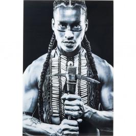 Zasklený černobílý obraz Kare Design Native Front, 150 x 100 cm