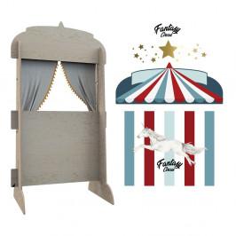 Nástěnný dekorativní stojan na knihy Dekornik Cirkusový stánek