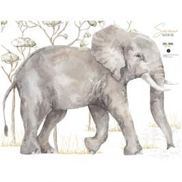Nástěnná samolepka slona Dekornik, 87 x 65 cm