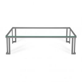 Skleněný venkovní stůl v šedém rámu Calme Jardin Cannes, 60 x 150 cm