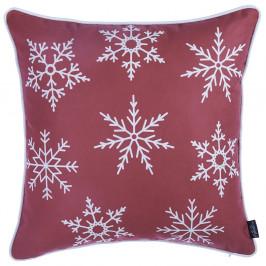 Červený povlak na polštář s vánočním motivem Apolena Honey Snow, 45 x 45 cm