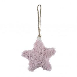 Závěsná textilní ozdoba ve tvaru hvězdy Ego Dekor, malá