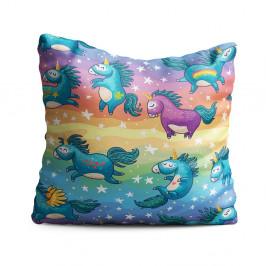 Dětský polštář OYO Kids Unicorn Pattern, 40 x 40 cm