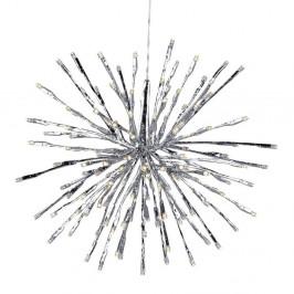 Závěsná světelná LED dekorace ve stříbrné barvě Markslöjd Hudra, ø 30 cm