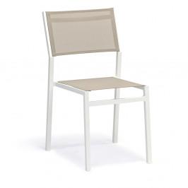 Sada 4 šedo-bílých zahradních židlí Ezeis Zephyr