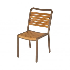 Sada 4 zahradních židlí z teakového dřeva Ezeis Typon
