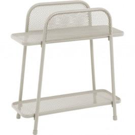 Světle béžový kovový odkládací stolek nabalkon ADDU MWH, výška 70cm