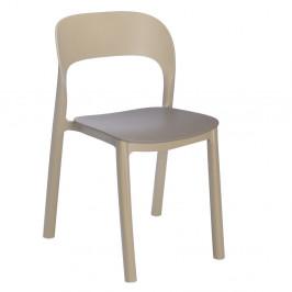 Sada 4 pískově hnědých židlí s hnědým sedákem Resol Ona