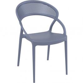 Sada 4 tmavě šedých zahradních židlí Resol Sunset