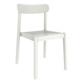 Sada 4 bílých zahradních židlí Resol Elba