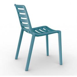 Sada 2 modrých zahradních židlí Resol Slatkat