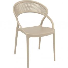 Sada 4 béžových zahradních židlí Resol Sunset