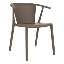 Sada 2 hnědých zahradních židlí Resol Steely