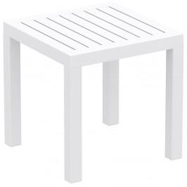 Bílý zahradní odkládací stolek Resol Ocean, 45 x 45 cm