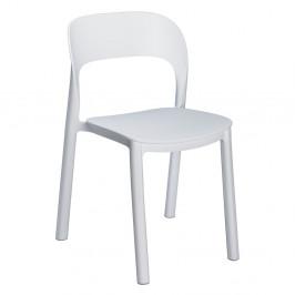 Sada 4 bílých zahradních židlí Resol Ona