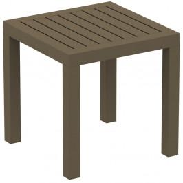Hnědý zahradní odkládací stolek Resol Ocean, 45 x 45 cm