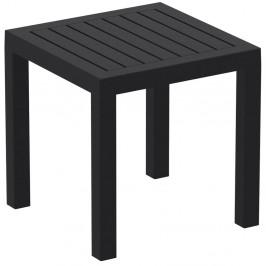 Černý zahradní odkládací stolek Resol Ocean, 45 x 45 cm