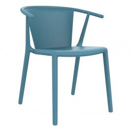Sada 2 modrých zahradních židlí Resol Steely