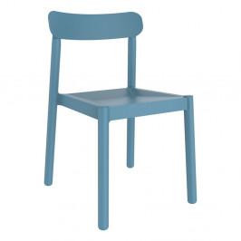 Sada 4 modrých zahradních židlí Resol Elba